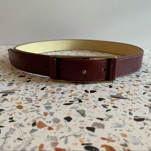 Cole Haan oxblood red leather belt